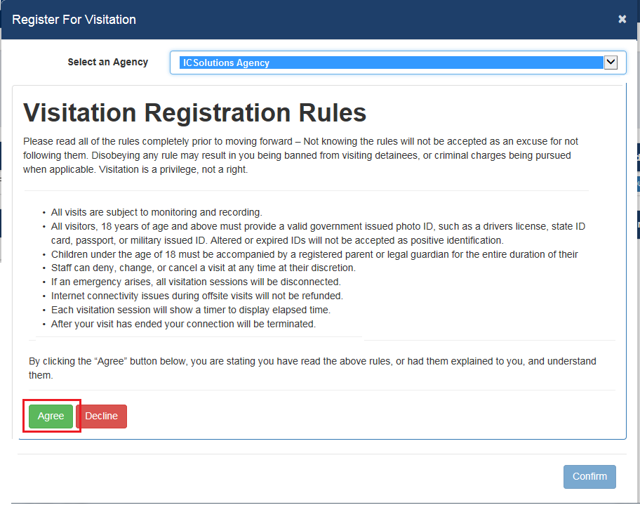 STEP 1 - HOW TO REGISTER FOR VISITATION - The Visitor by